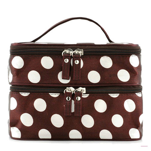 Polka Dot Makeup Bag