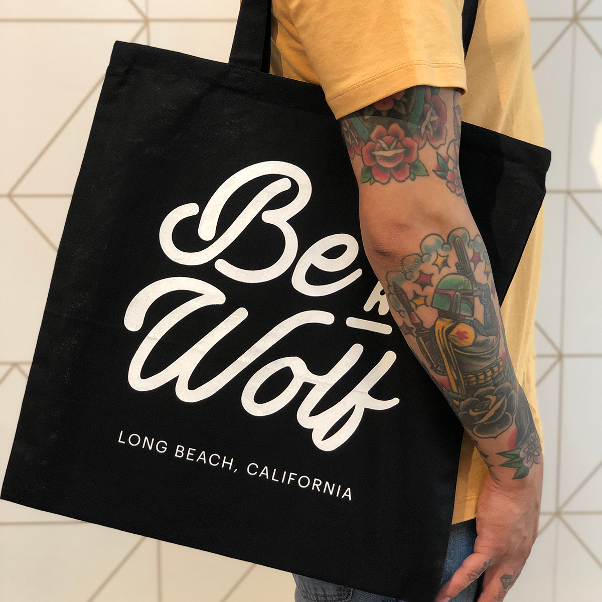 Tote Bag - Be a Wolf - Black