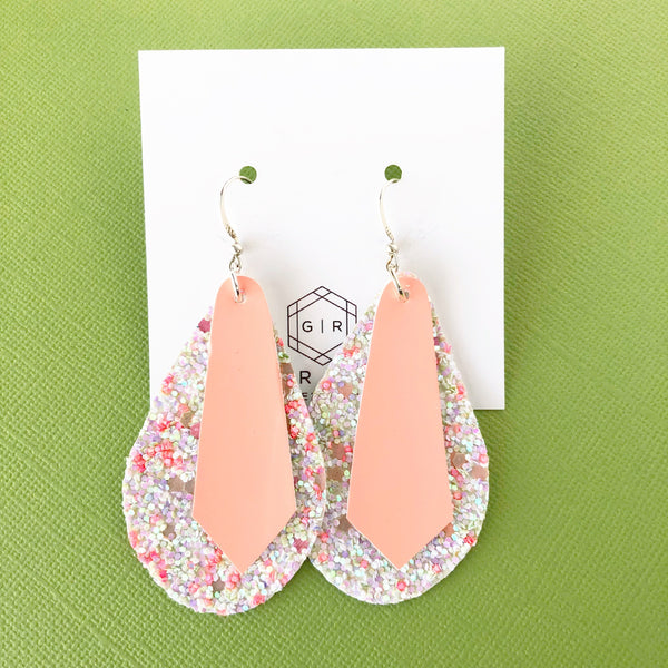 Citrus Kiss Layered Teardrop Earrings