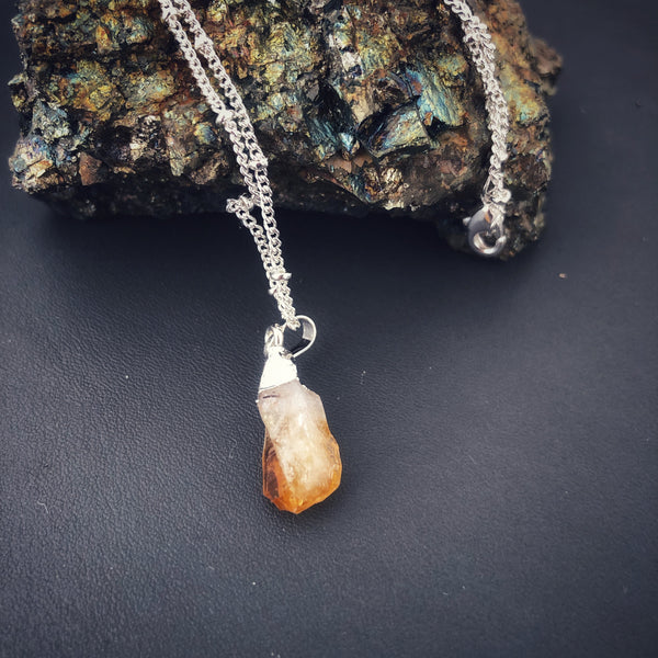 Raw Citrine Petite Nugget Necklace