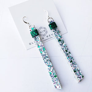 Super Slim Tassel Earrings- Luck of the Irish