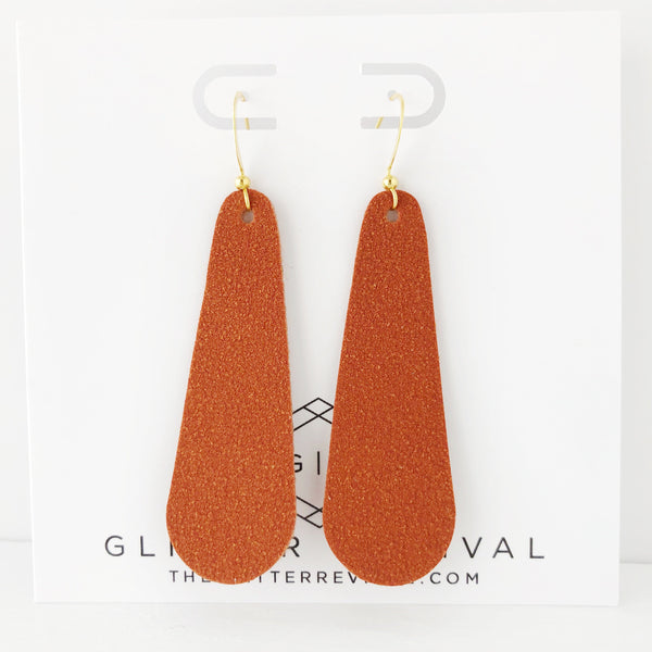 Paprika Vegan Suede Simple Drop Earring