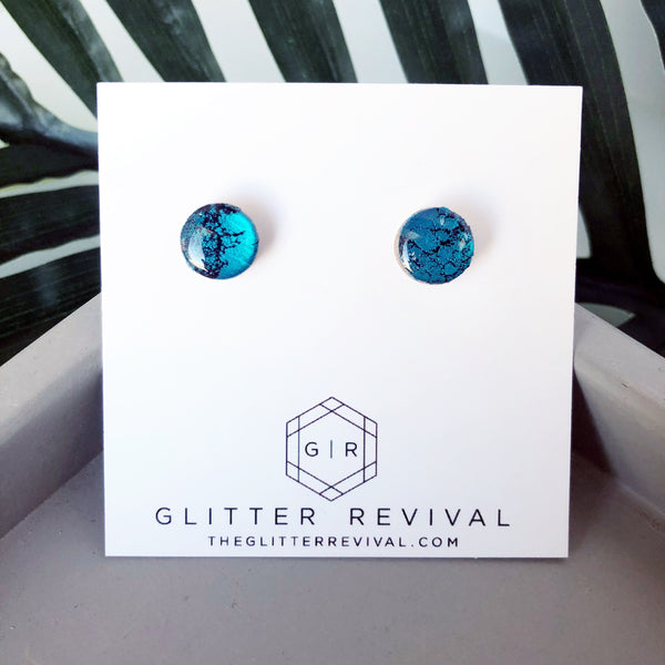 Round Glitter Studs- Southwest Dream