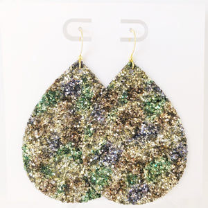 Jungle Glitter Jumbo Teardrop Earring