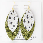 Evergreen Layered Petal Earrings