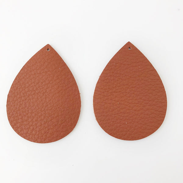 Adobe Genuine Leather Jumbo Teardrop Earring