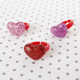 Glitter Resin Heart Ring