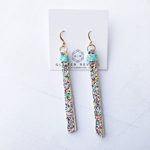 Super Slim Tassel Earrings- Palm Beach