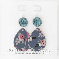 Audrey Floral Geometric Earrings