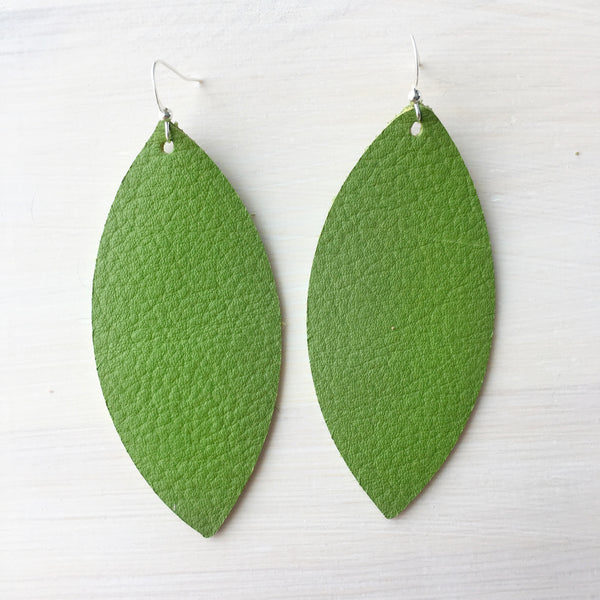 Bright Cactus Genuine Leather Earrings