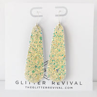 Lemon Sorbet Glitter Simple Drop Earring