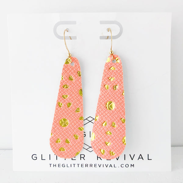Coral Cutout Simple Drop Earring