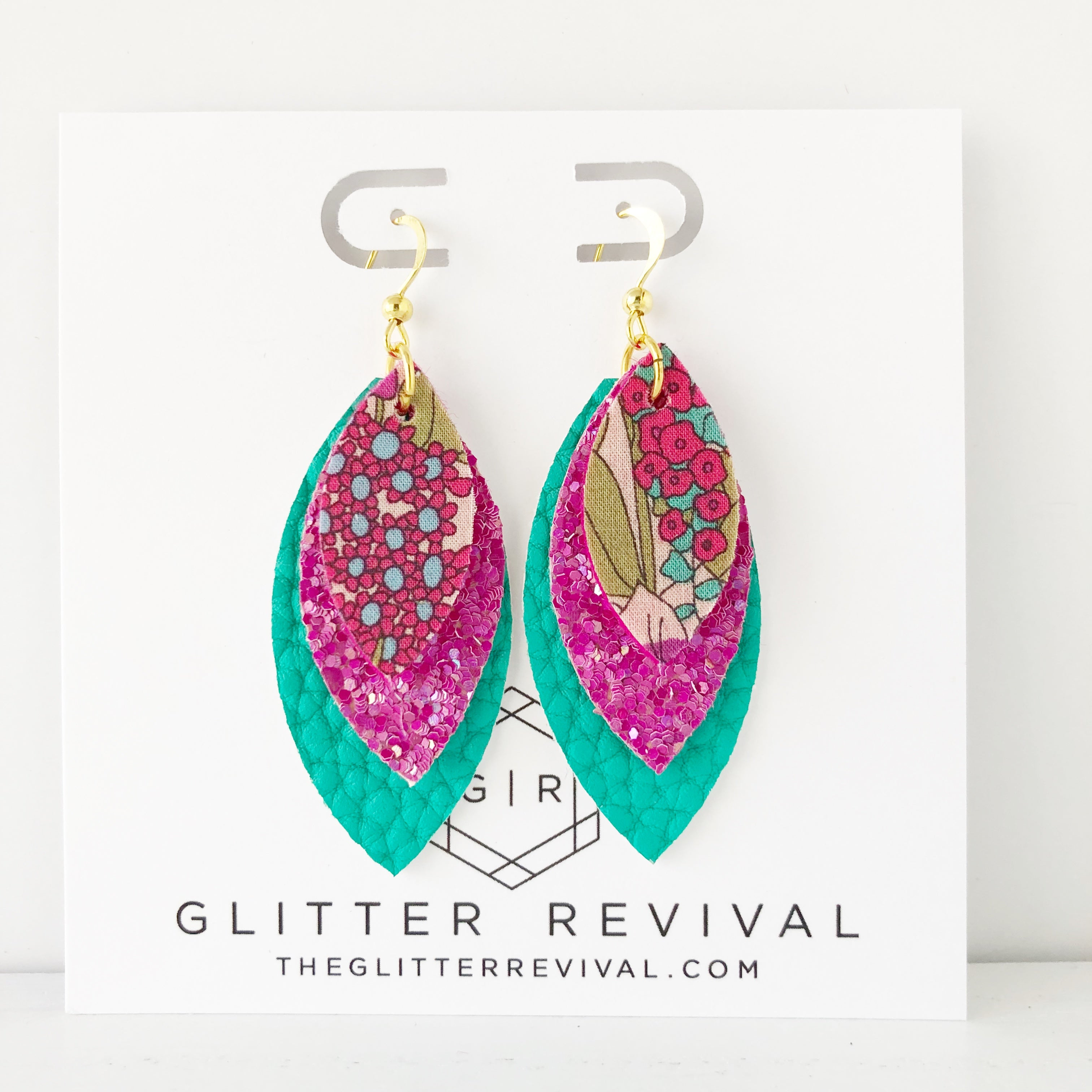 Rum Punch Triple Petal Earrings