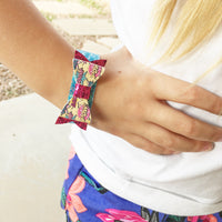 Let's Flamingle Bow Snap Bracelet