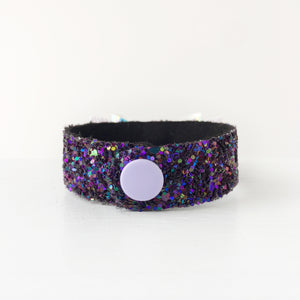 Purple-tastic Hologram Bow Snap Bracelet