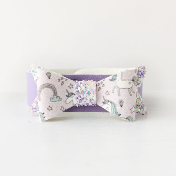 Unicorn Dreams Bow Snap Bracelet