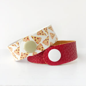 Pizza Guy Snap Bracelet Set