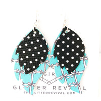 Little Blue Box Layered Leaf Earrings