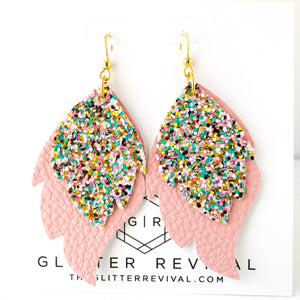 Palm Beach Layered Leaf Earrings
