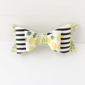 Watercolor Pineapple Bow