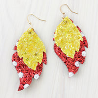 Miss Minnie Layered Leaf Earrings