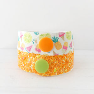 Tropical Fruits Snap Bracelet Set