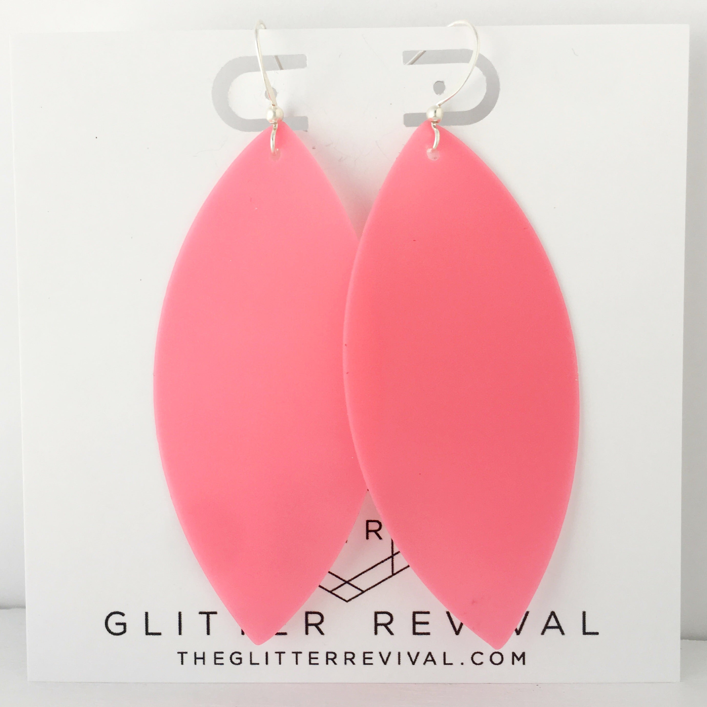 Coral Jelly Earrings