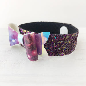 Galaxy Girl Bow Snap Bracelet
