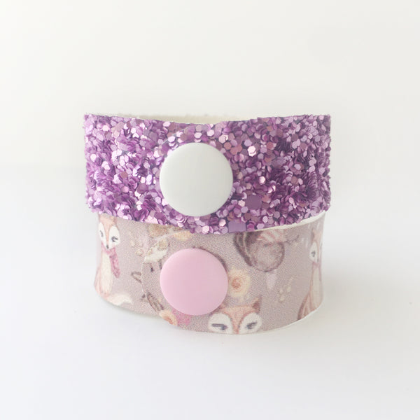 Forest Friends Glitter Snap Bracelet Set