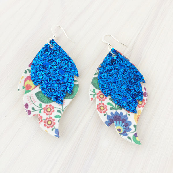 Swedish Garden Layered Leaf Earrings