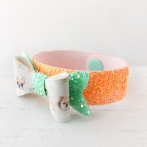 Dogs in Crowns Bow Snap Bracelet