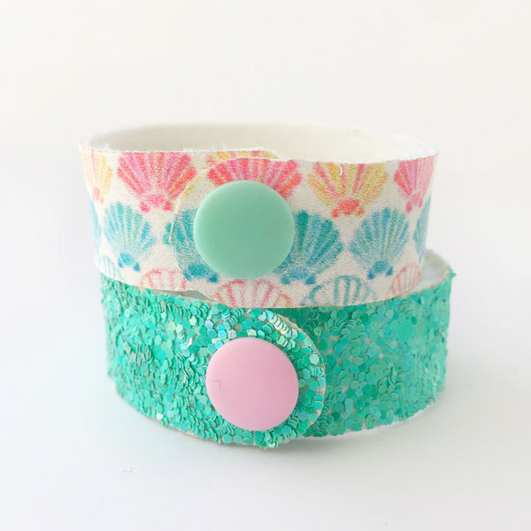 By the Seashore Glitter Snap Bracelet Set