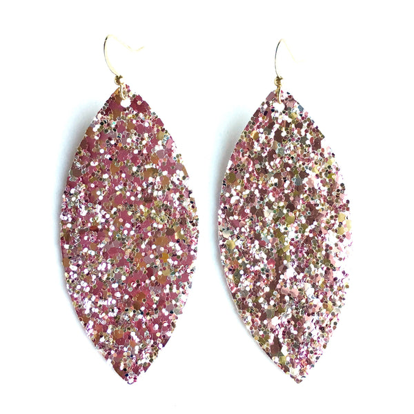Ballet Slipper Glitter Earrings