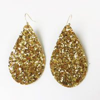 Brass Glitter Earrings