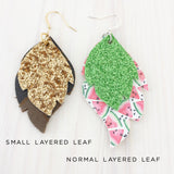 Palm Springs Small Layered Leaf Earrings
