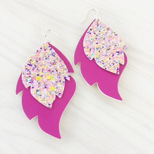 West Hollywood Layered Leaf Earrings
