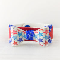 Star Spangled Bow Snap Bracelet