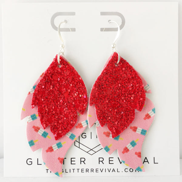 Bomb Pop Layered Leaf Earrings
