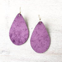 Eggplant Velvet Earrings