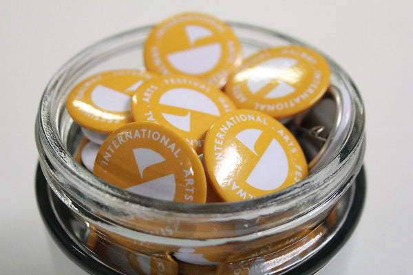 2014 Festival Button Badge White on Yellow