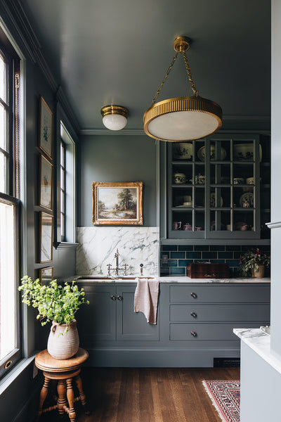 green painted butlers' pantry