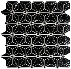 Black Ceramic Triangle Mosaic