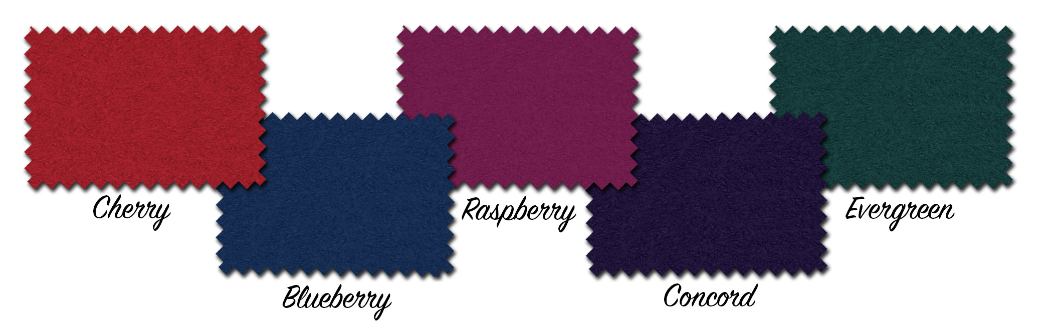 Wool colour swatches