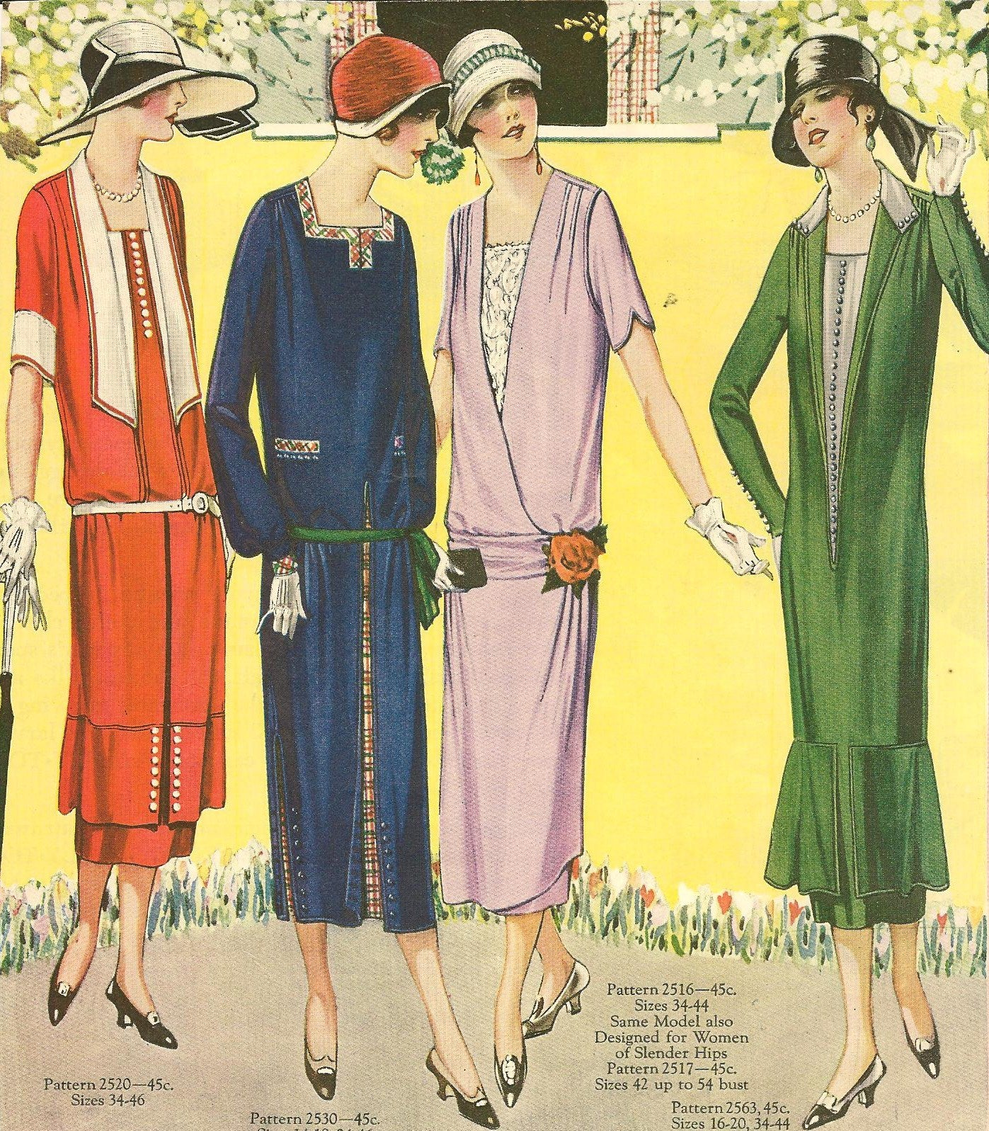Flapper clothing 1920's outfits