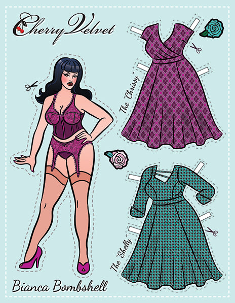 Bianca Pin Up Paper Doll