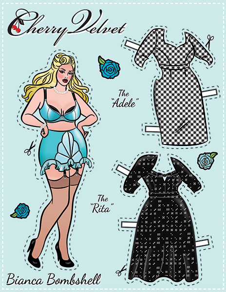 Bianca Bombshell - Pin-Up Paper Doll