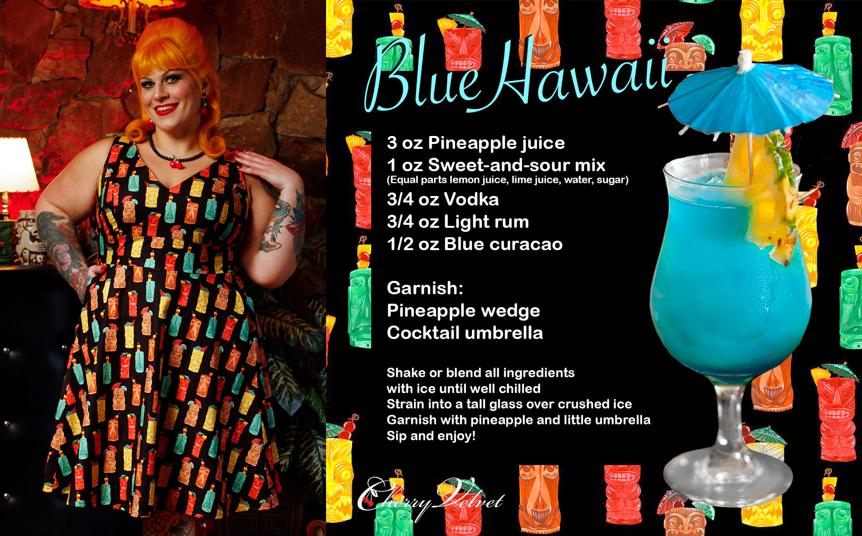 Leanne Tiki Me Away Blue Hawaii Recipe