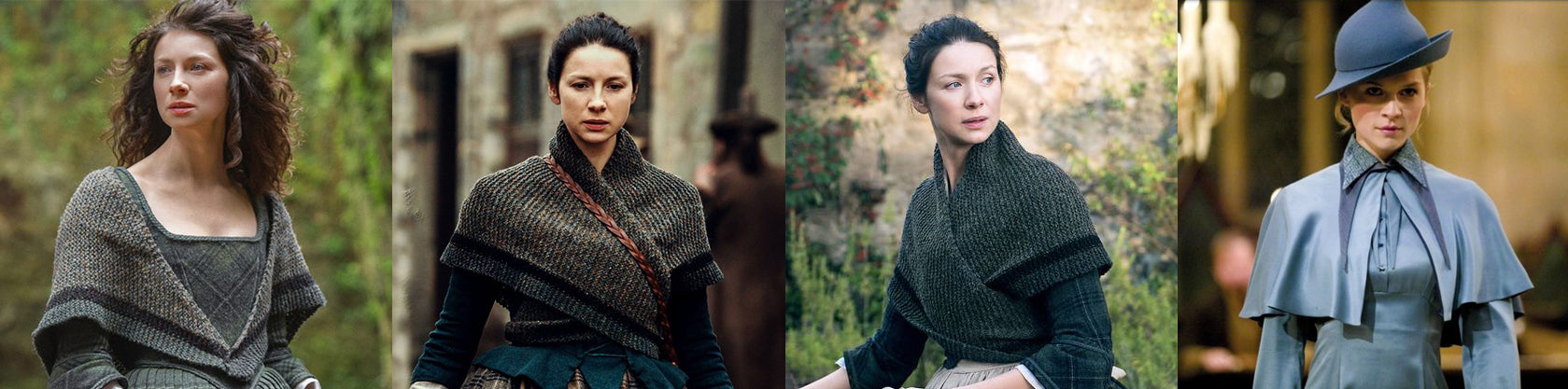 Claire Fraser and Brianna Fraser from Outlander, Fleur Delacour from Harry Potter