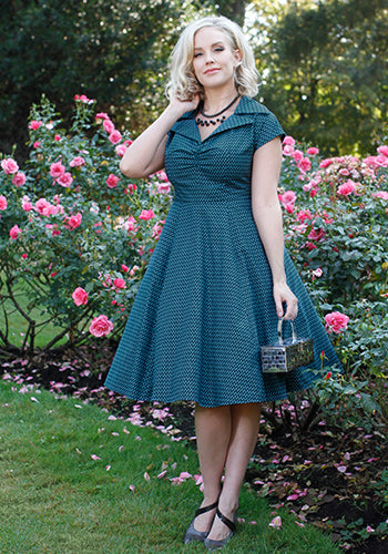 Paige Dress In Split Dot 2
