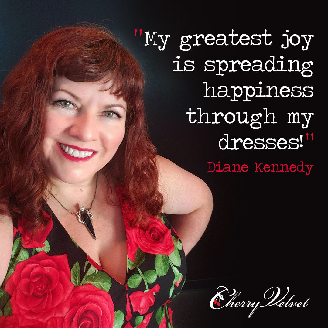 Cherry Velvet dresses designer Diane Kennedy quote